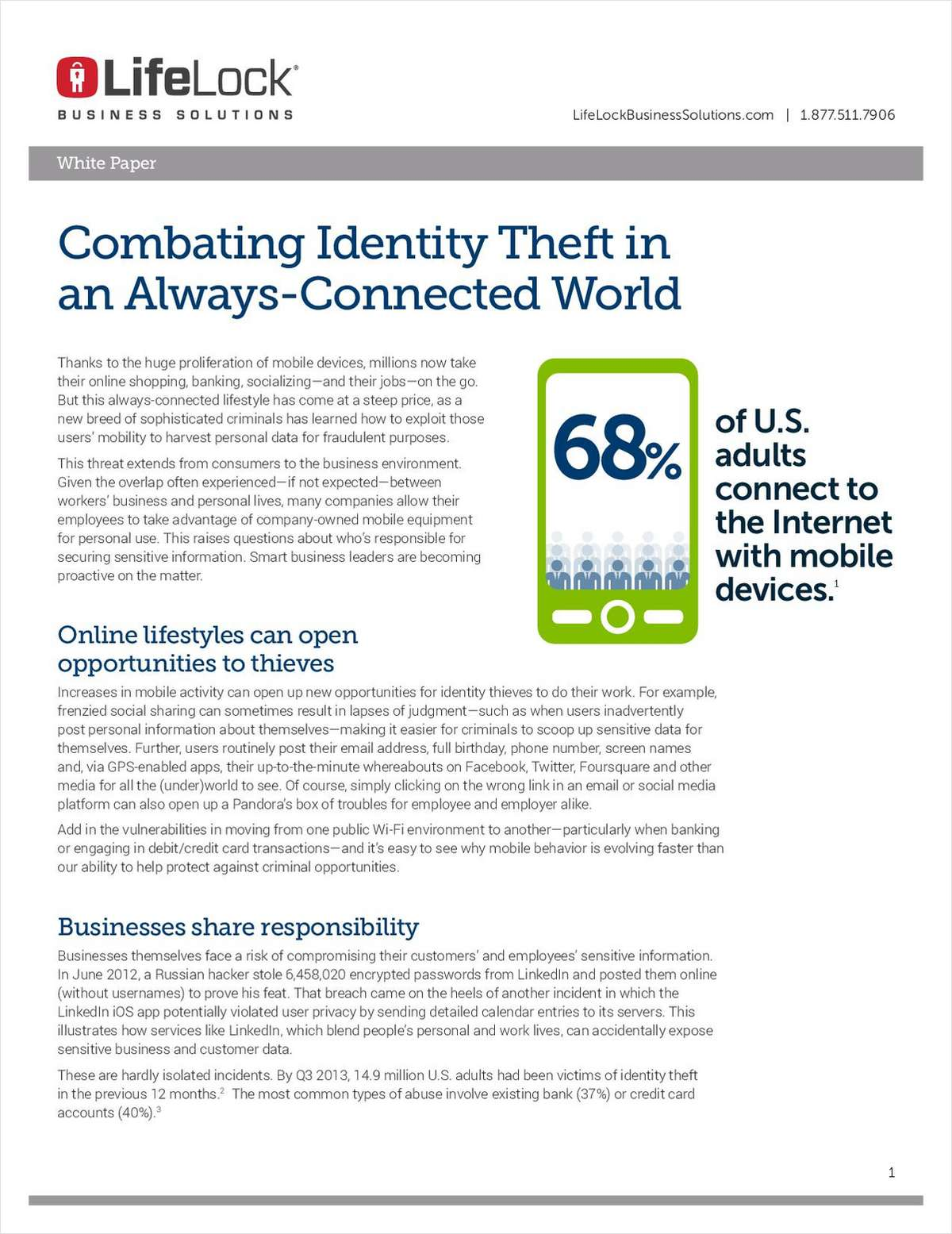 Combating Identity Theft in an Always-Connected World