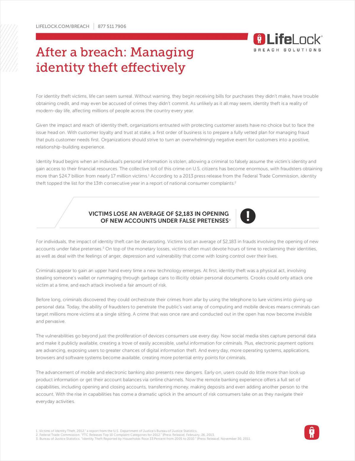After A Data Breach: Managing Identity Theft Effectively