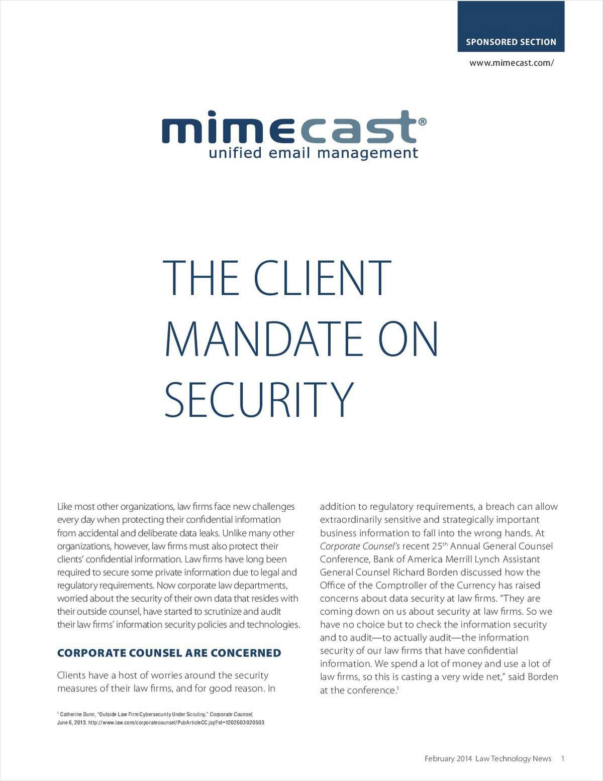The Client Mandate on Security