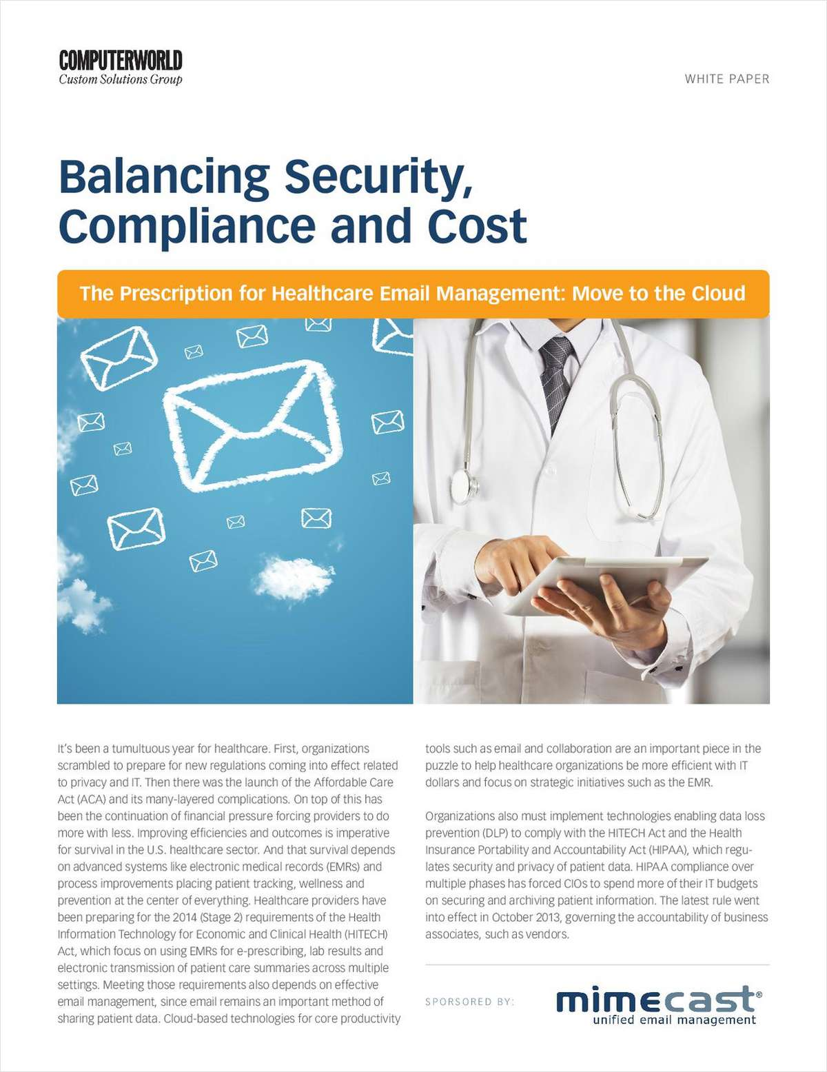 Security, Compliance, and Cost: A Productive Balancing Act