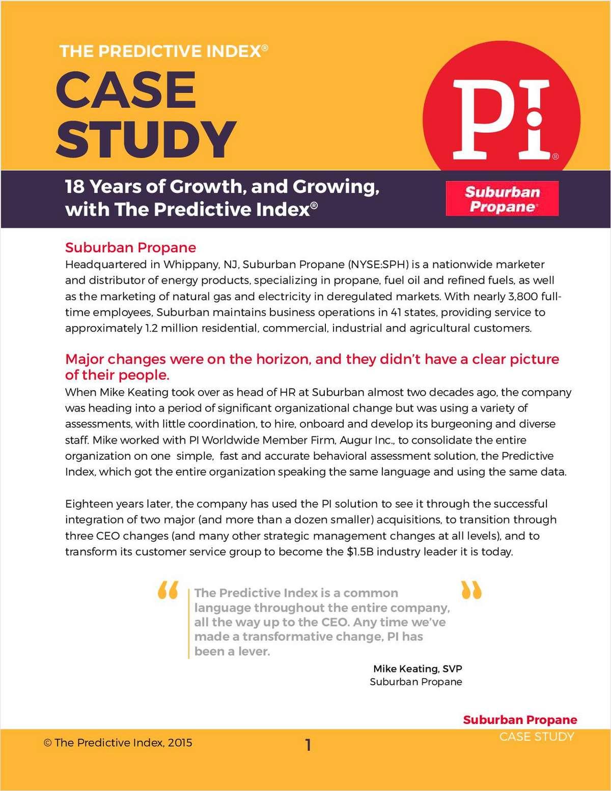 Suburban Propane Case Study