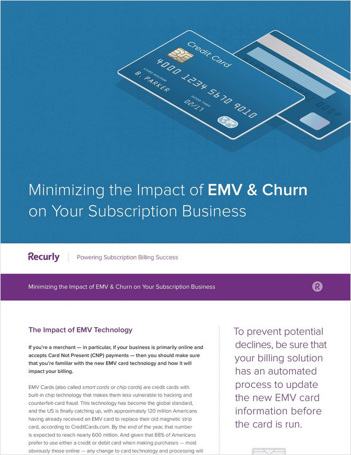 Minimizing the Impact of EMV & Churn on Your Subscription Business
