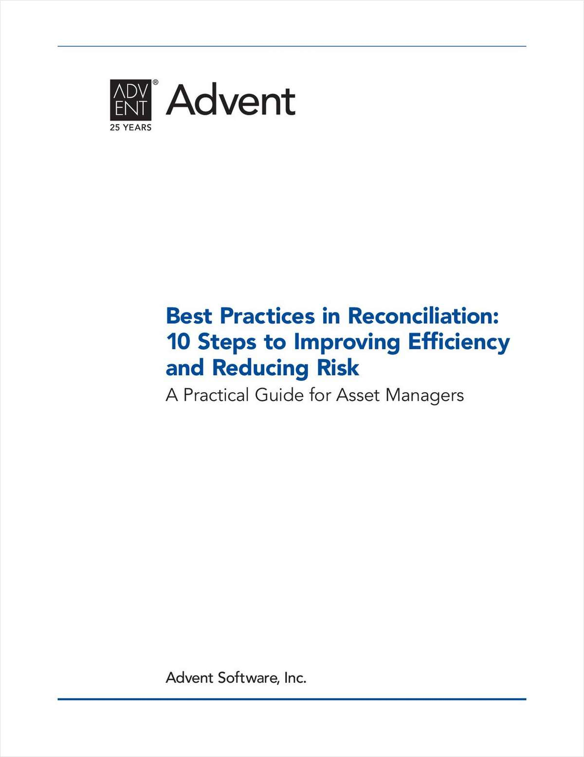 Best Practices in Reconciliation: 10 Steps to Improving Efficiency and Reducing Risk