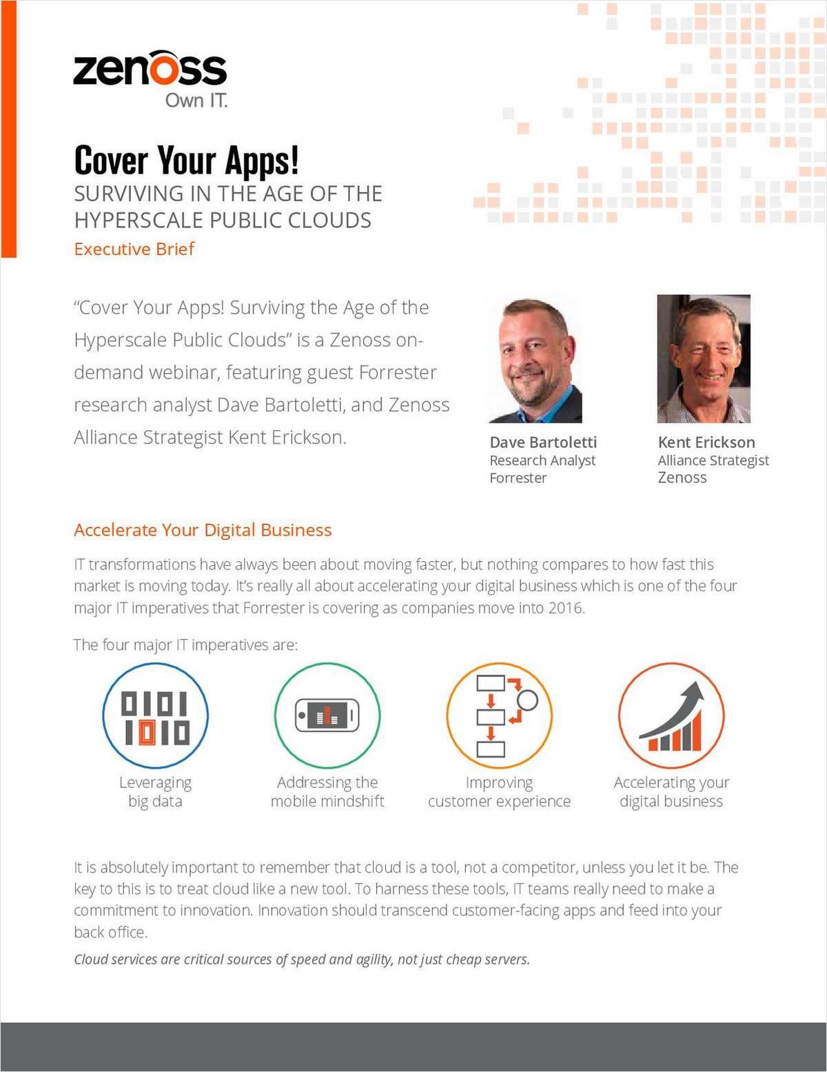 Cover Your Apps! Surviving in the Age of the Hyperscale Public Clouds