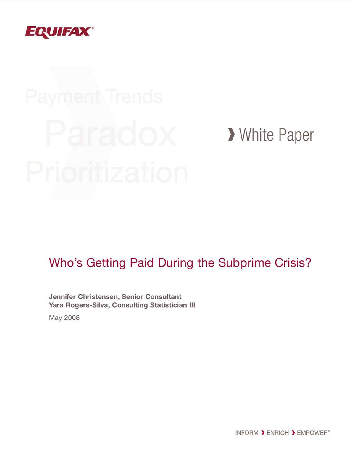Who's Getting Paid During the Subprime Crisis?