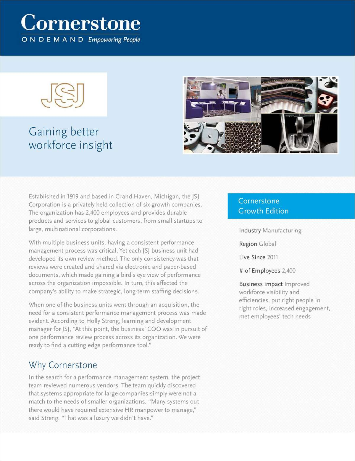 JSJ Case Study: Gaining Better Workforce Insight