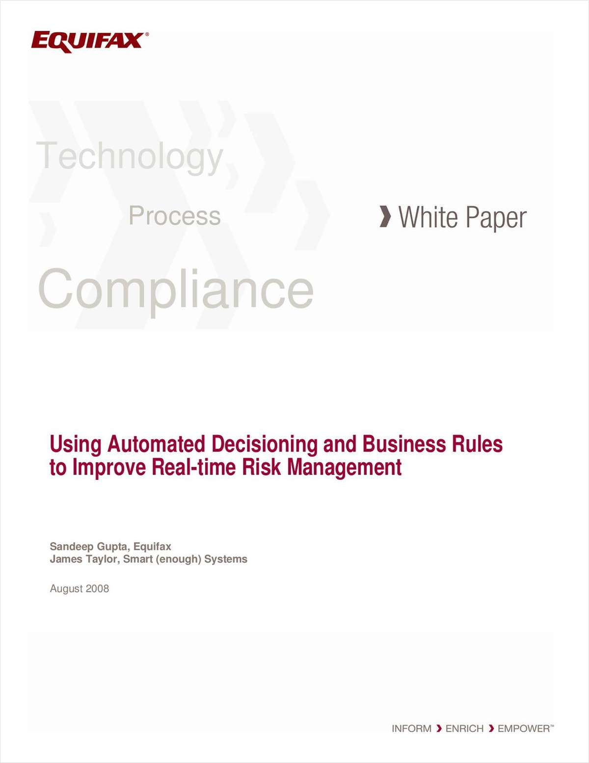 Using Automated Decisioning and Business to Improve Real-time Risk Management