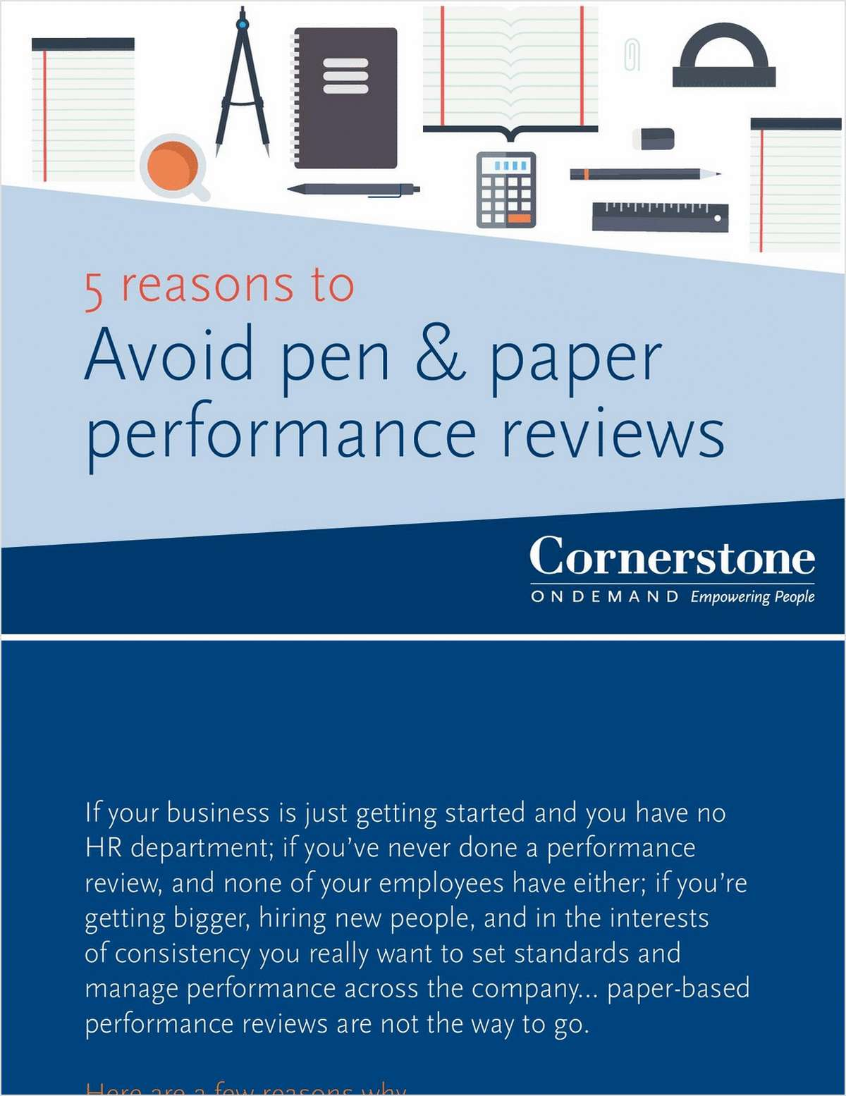 5 Reasons to Avoid Pen and Paper Performance Reviews