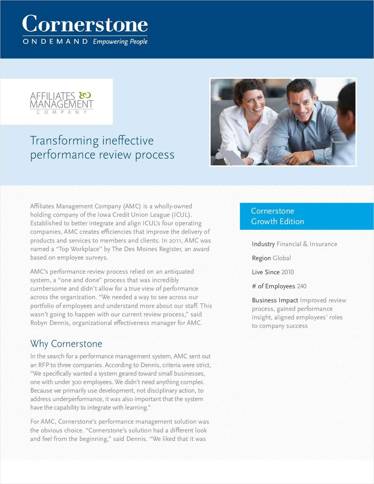 AMC Case Study: Transforming Ineffective Performance Review Process