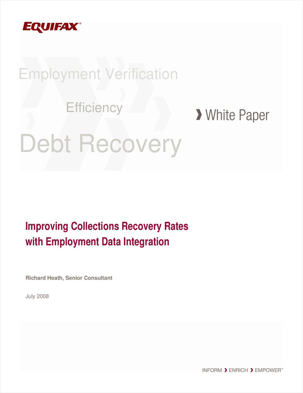 Improving Collections Recovery Rates with Employment Data Integration