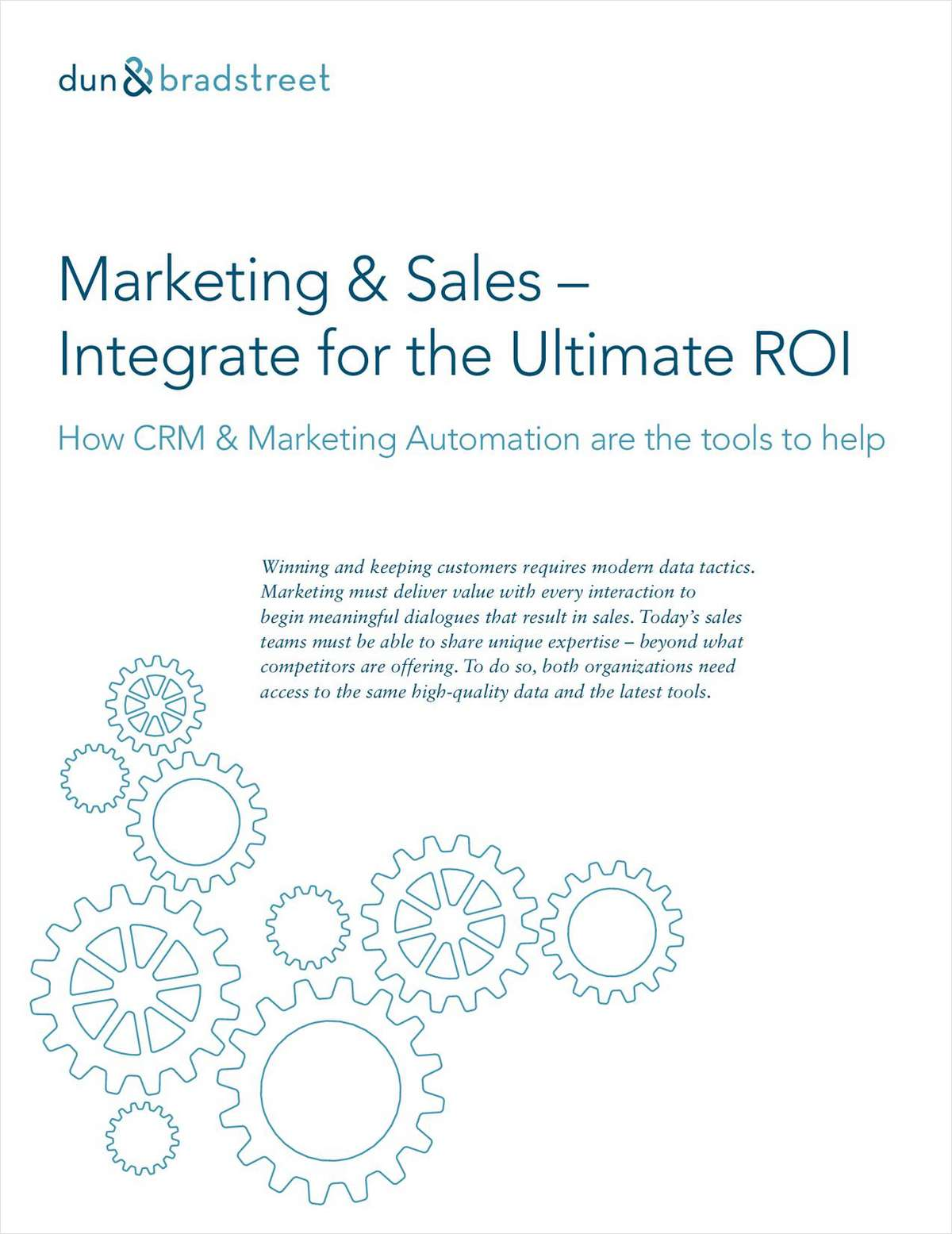 Integrate Marketing Automation and CRM for the Ultimate ROI