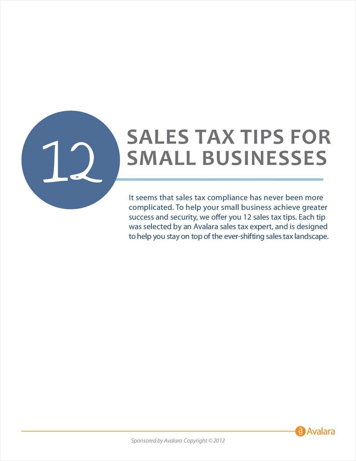 12 Sales Tax Tips For Small Businesses