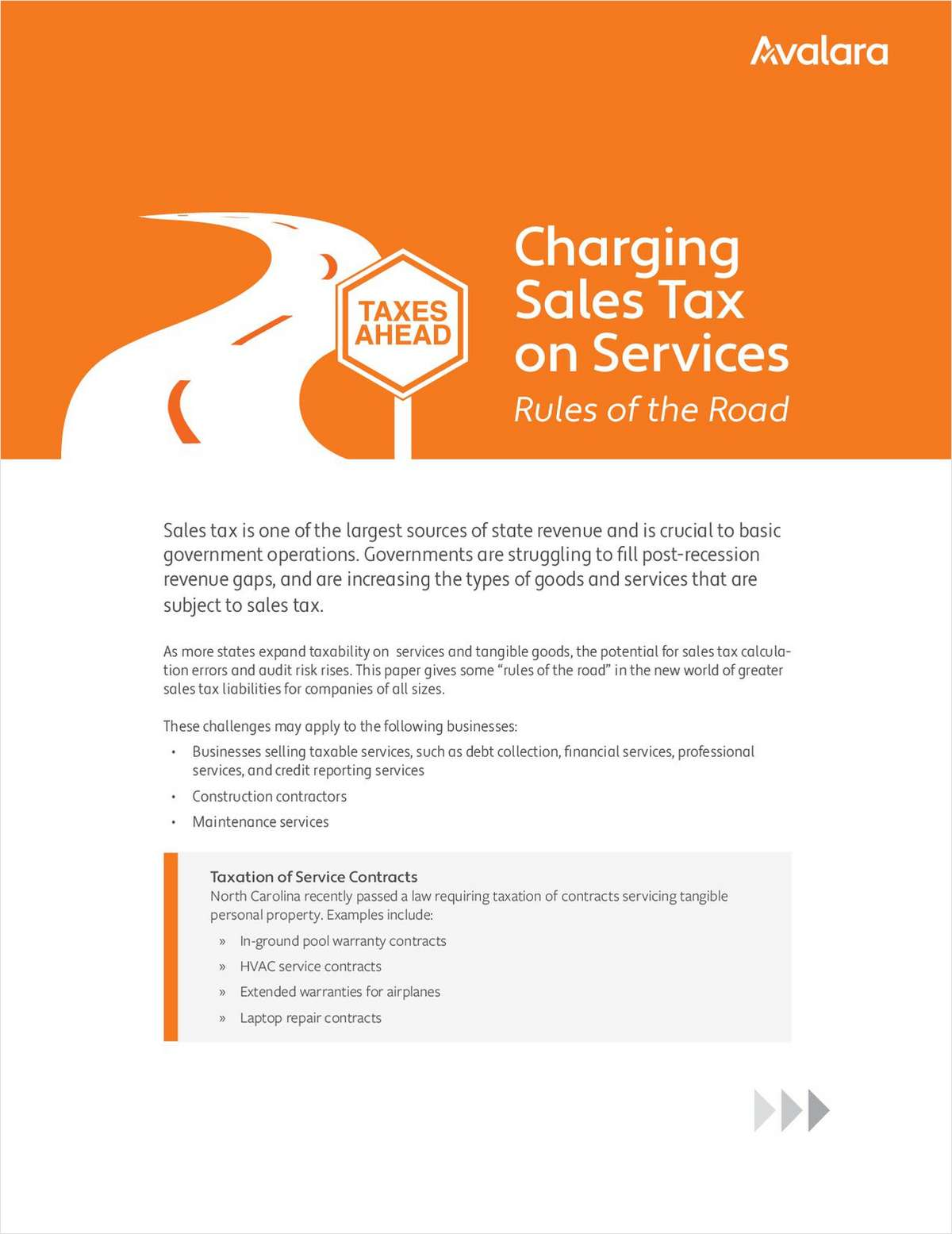 Charging Sales Tax on Services