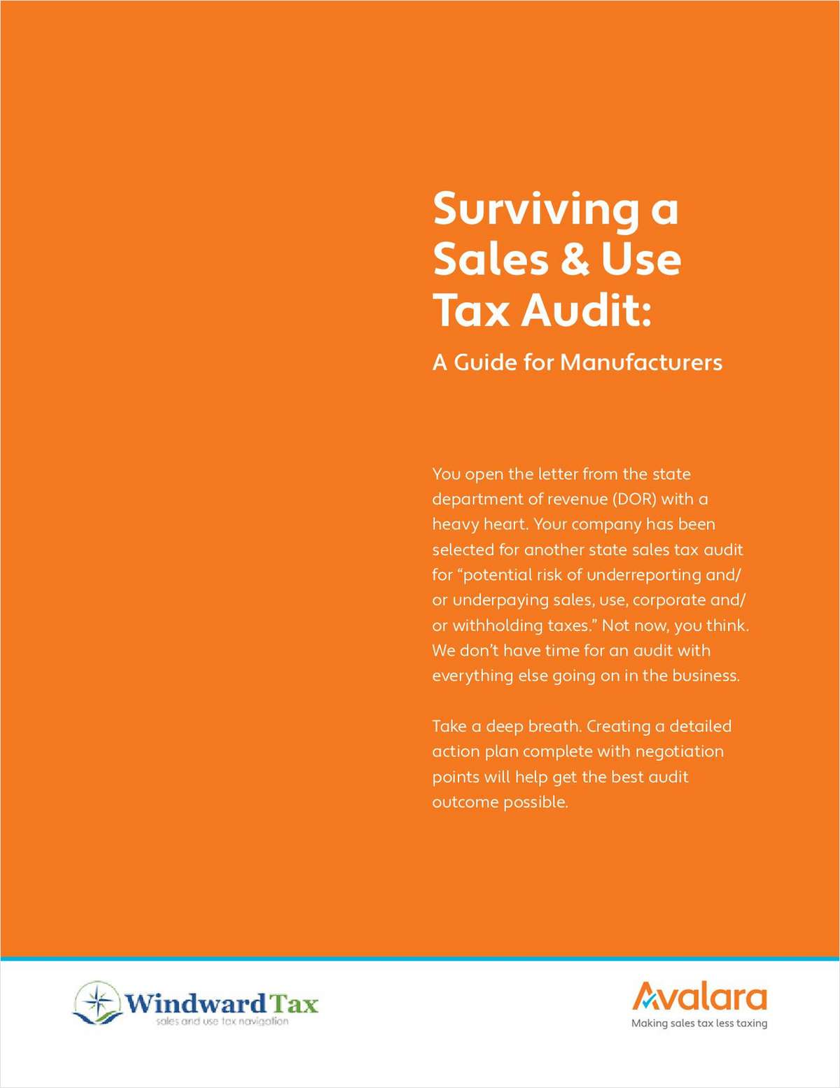 Surviving a Sales & Use Tax Audit: A Guide for Manufacturers