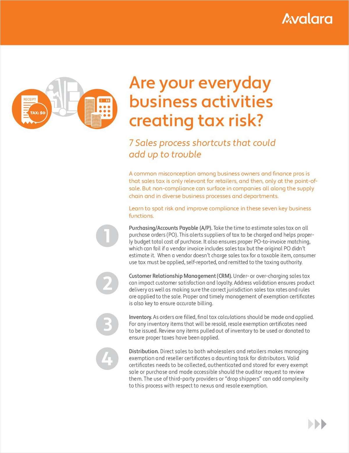 7 Business Process Tax Risks