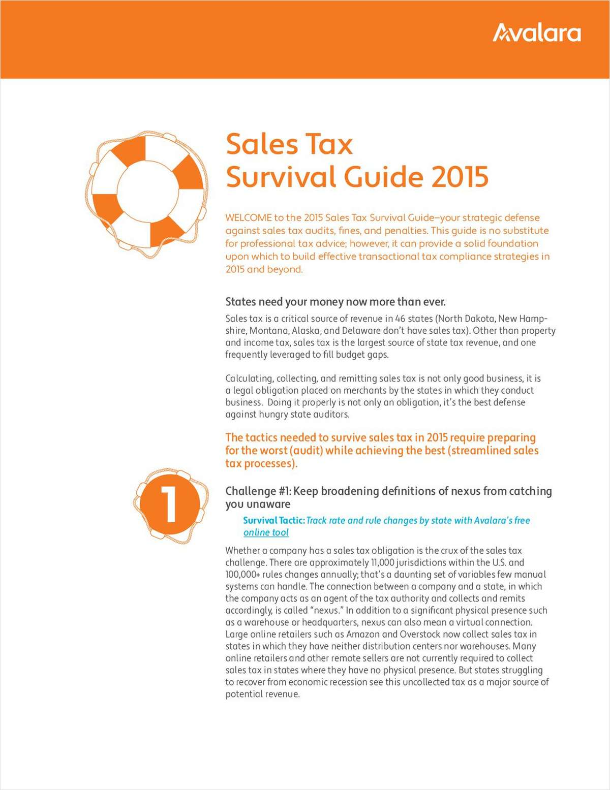 Sales Tax Survival Guide 2015