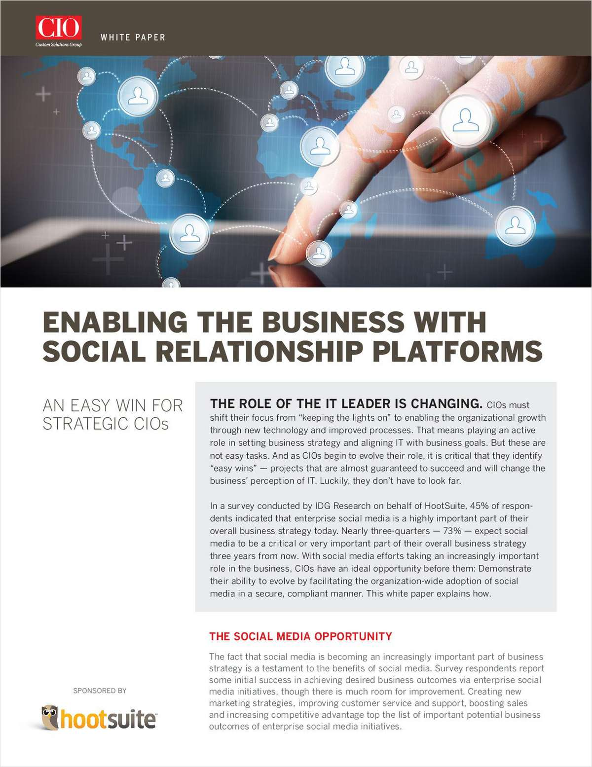 Enabling the Business with Social Relationship Platforms