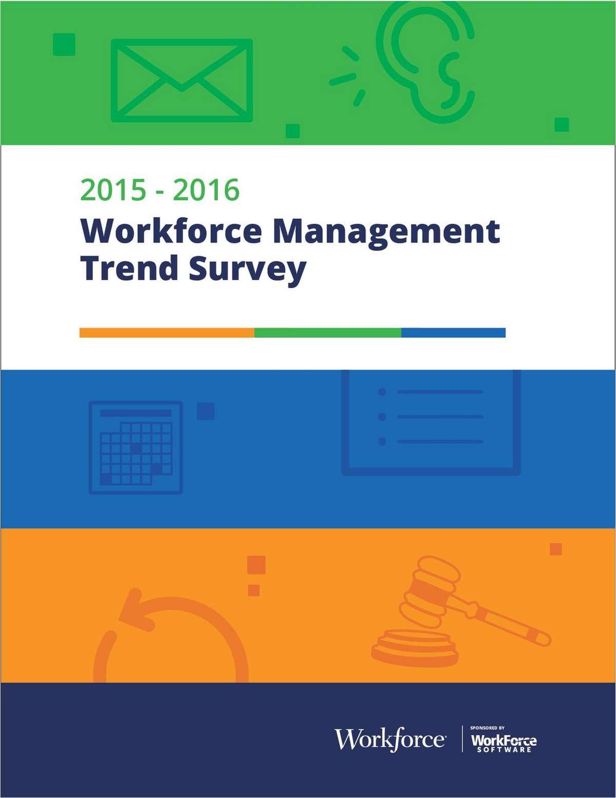 Workforce Management Trend Survey 2015-2016