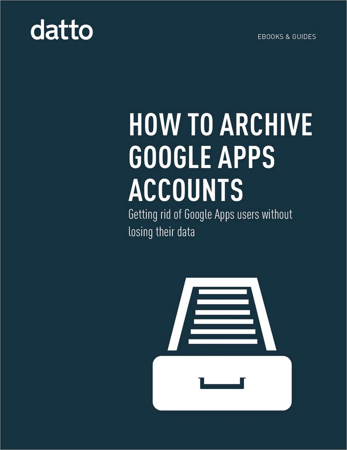 How To Archive Google Apps Accounts