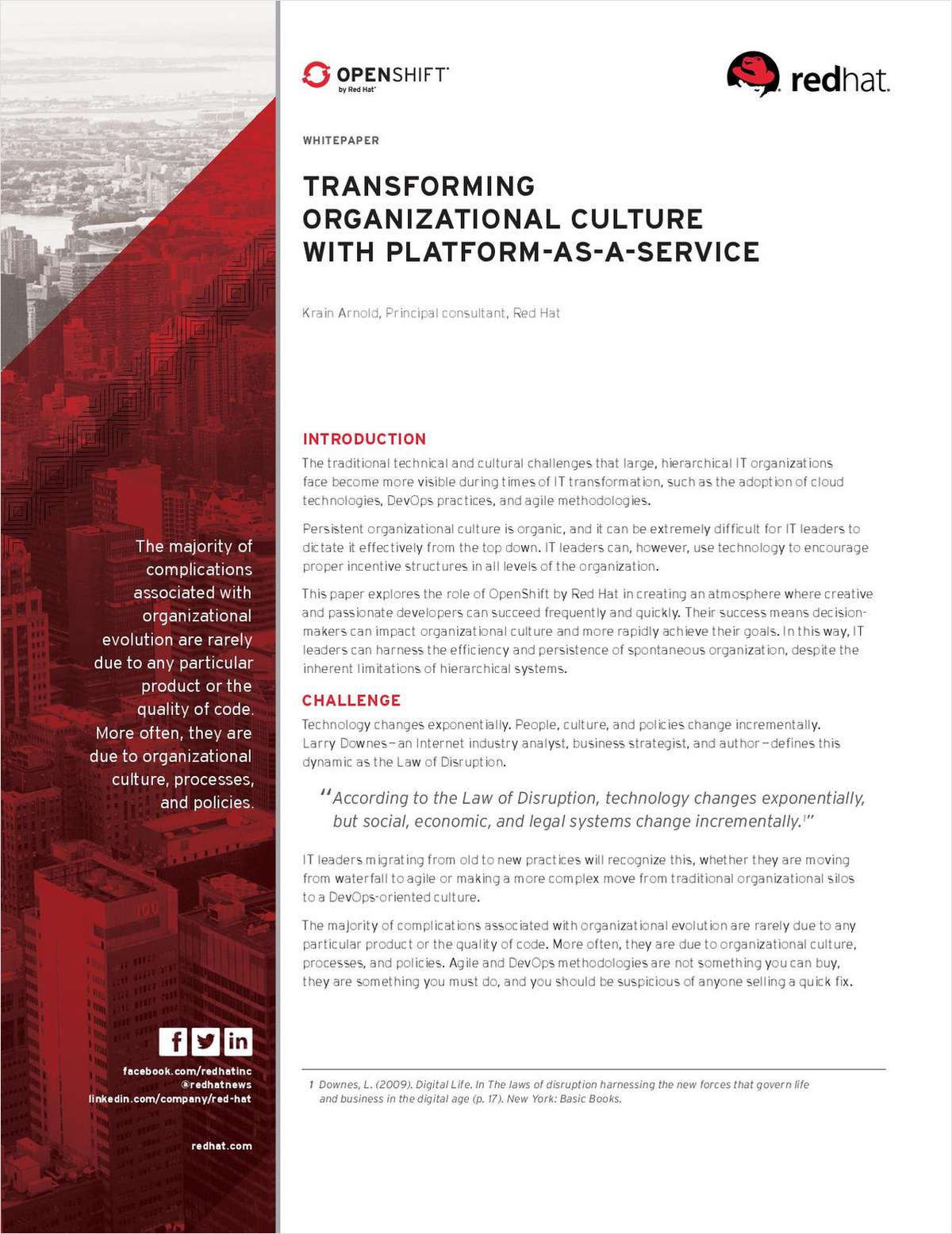 Transforming Organizational Culture with Platform-As-A-Service