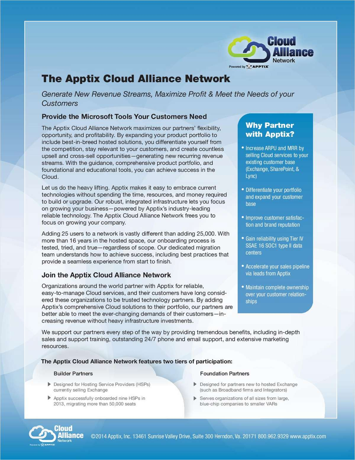 The Apptix Cloud Alliance Network