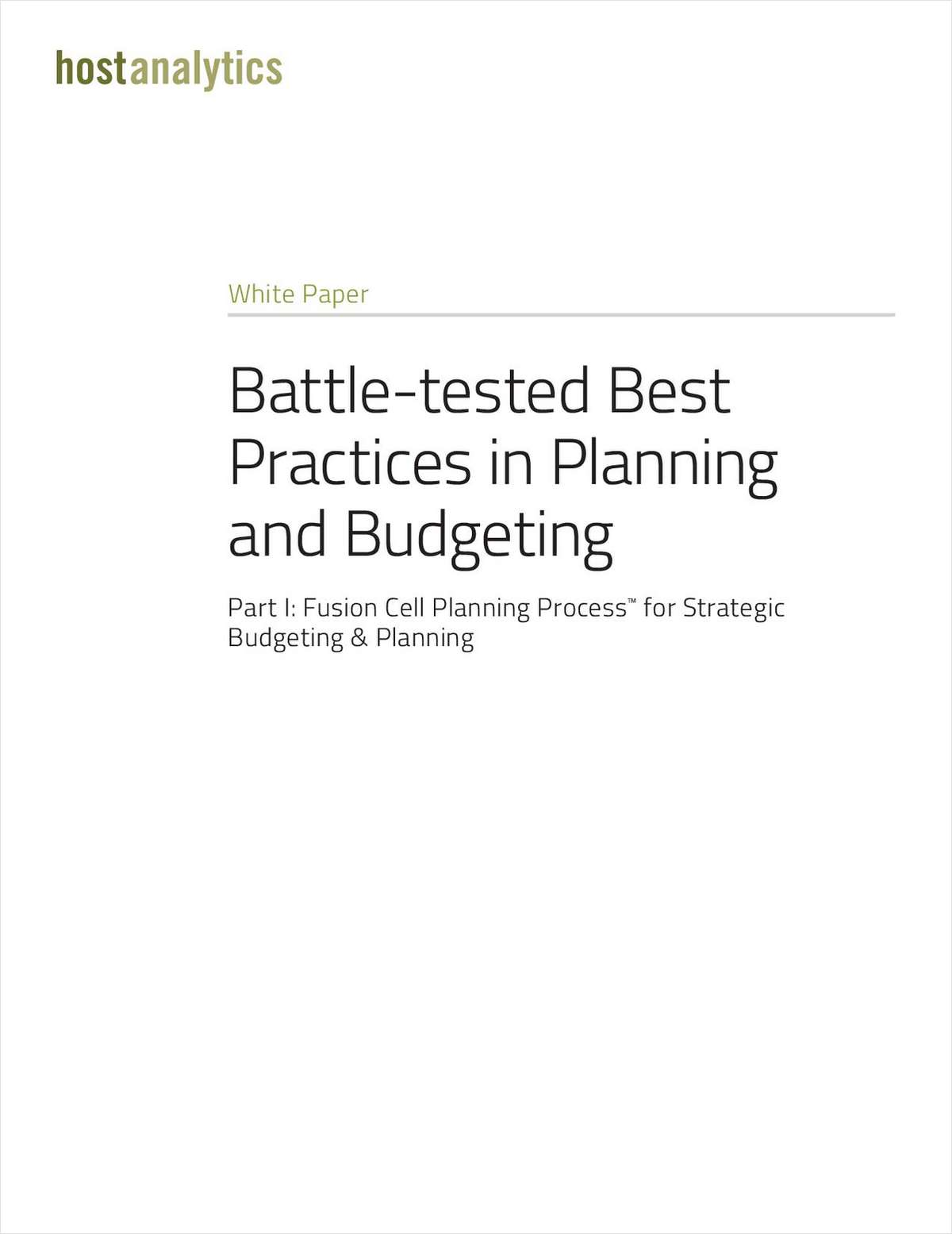 Battle-Tested Best Practices in Planning and Budgeting Parts 1&2