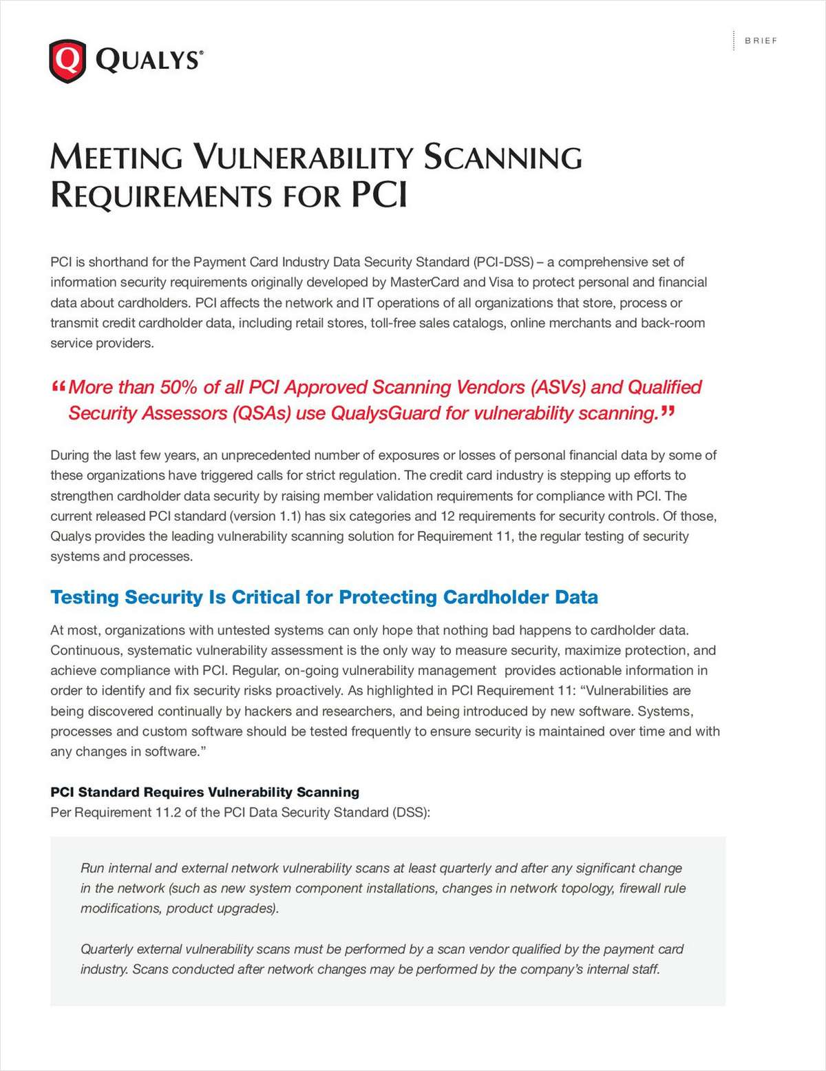 Meeting Vulnerability Scanning Requirements for PCI