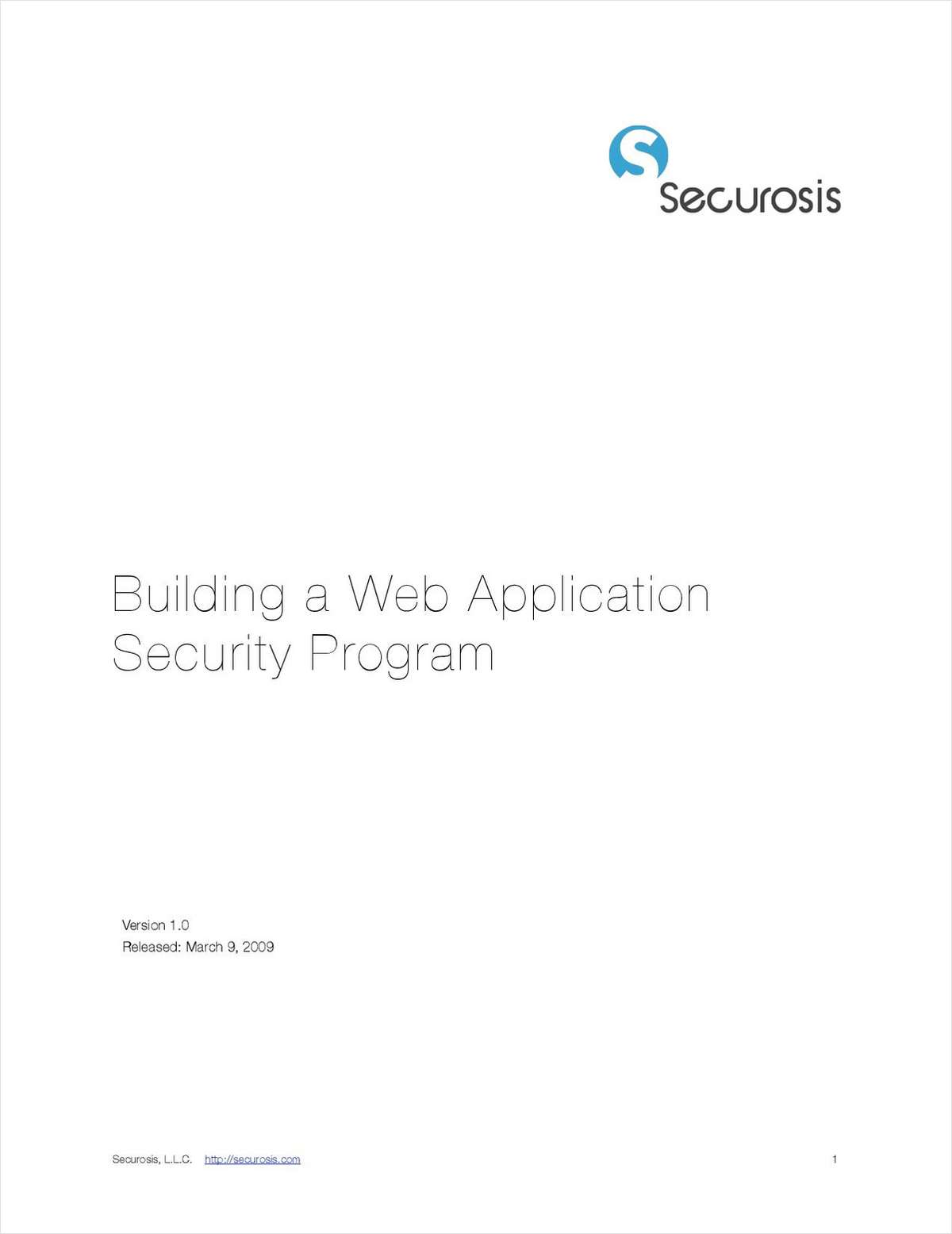Building a Web Application Security Program