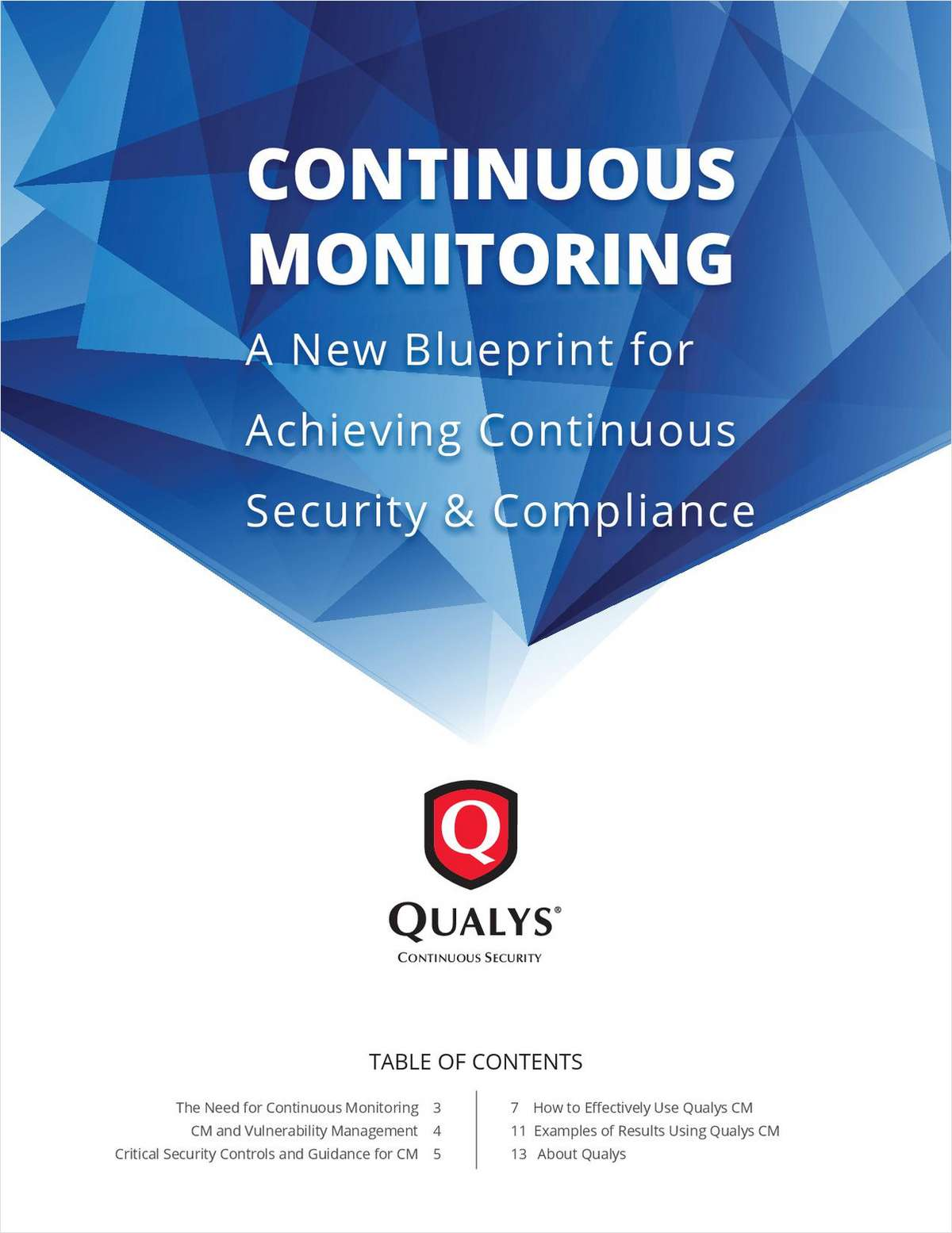 Continuous Monitoring: A New Blueprint for Achieving Continuous Security & Compliance