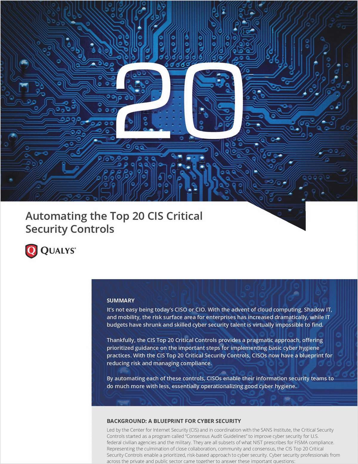 Automating the 20 Critical Security Controls