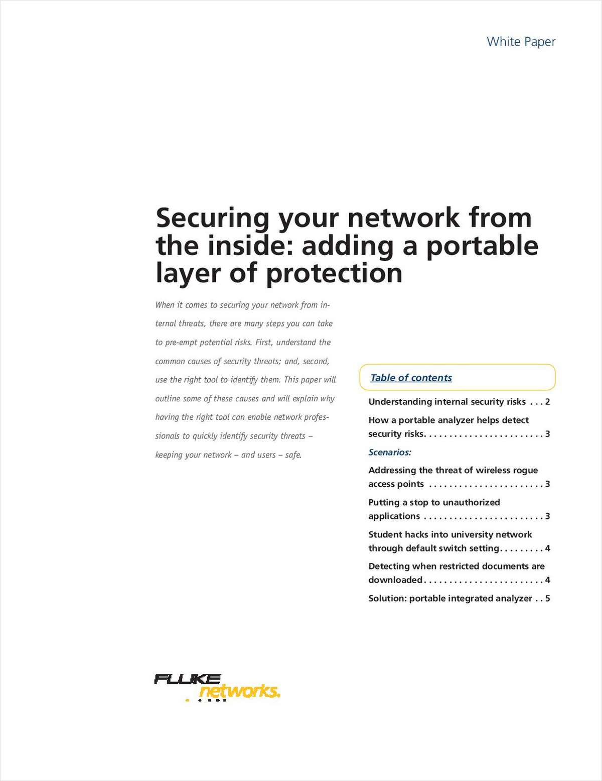 Securing Your Network from the Inside