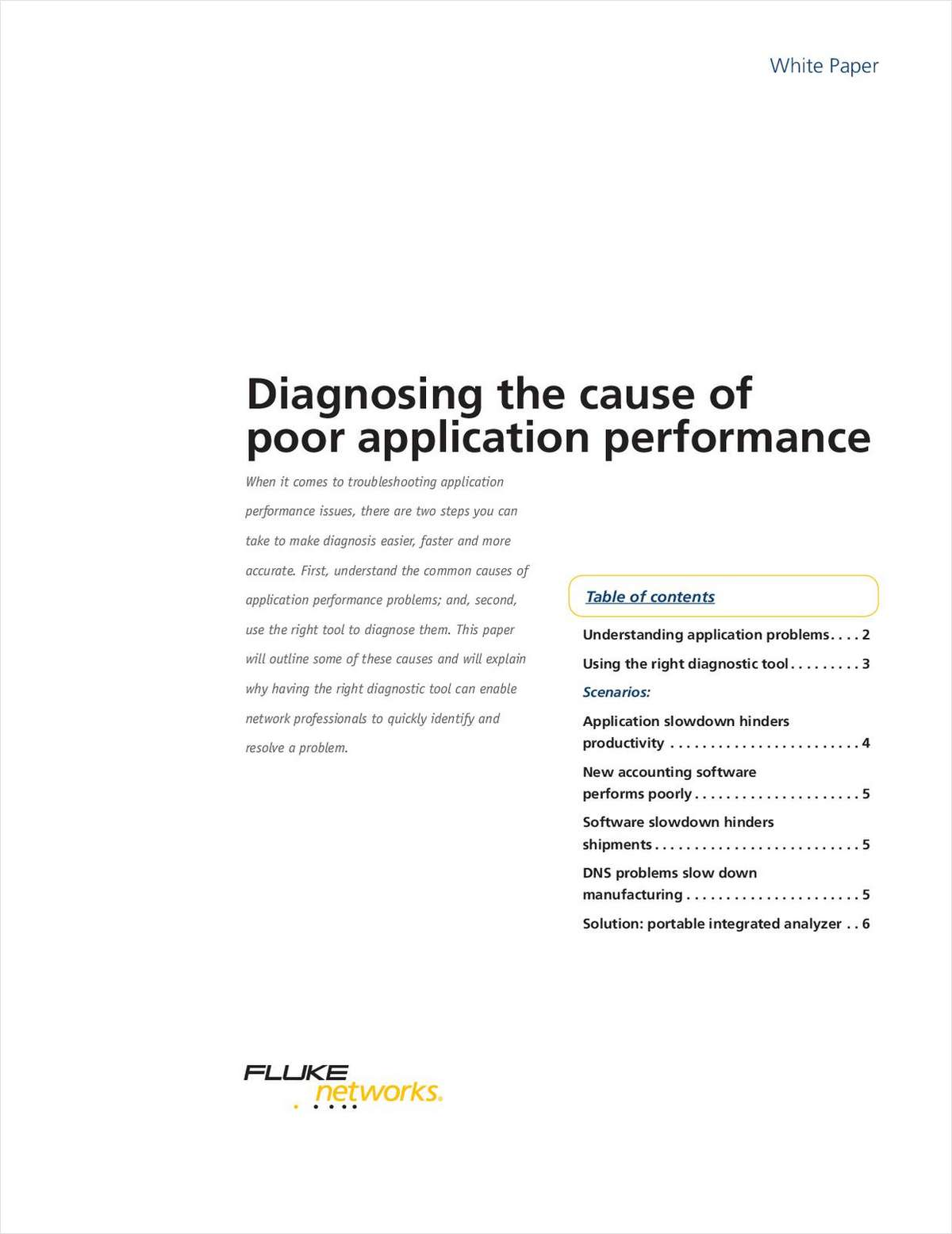 Diagnosing the cause of poor application performance