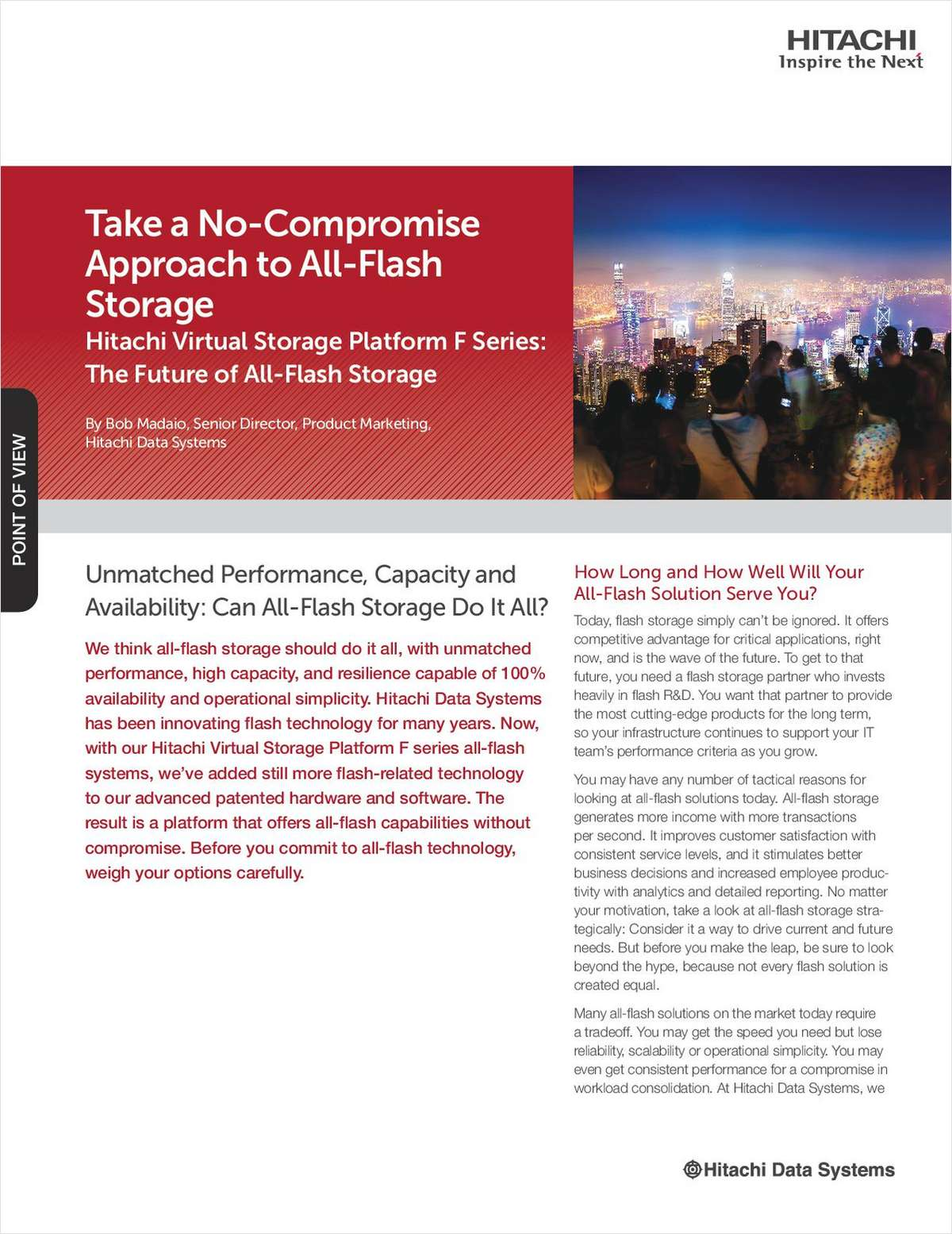 Take A No-Compromise Approach to All-Flash Storage