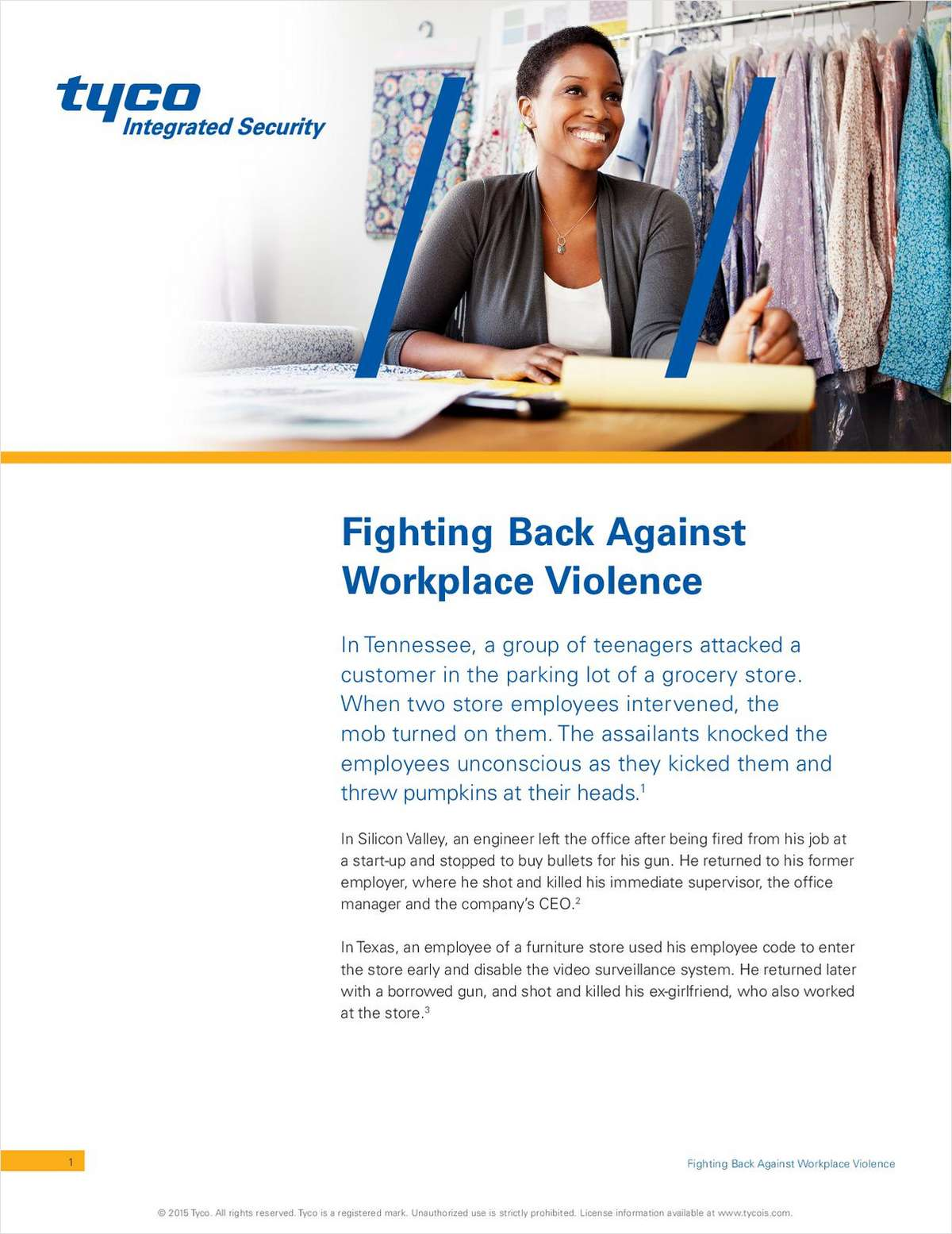 Fighting Back Against Workplace Violence