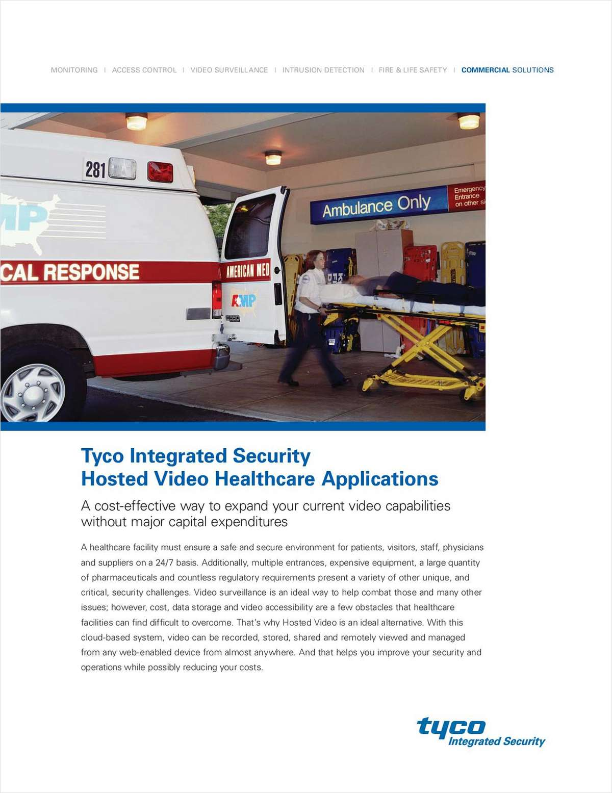 Tyco Integrated Security Hosted Video Healthcare Applications