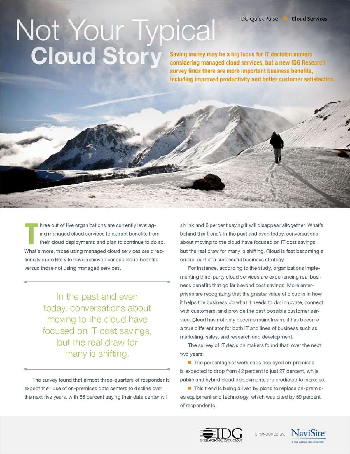 IDG White Paper: Not Your Typical Cloud Story