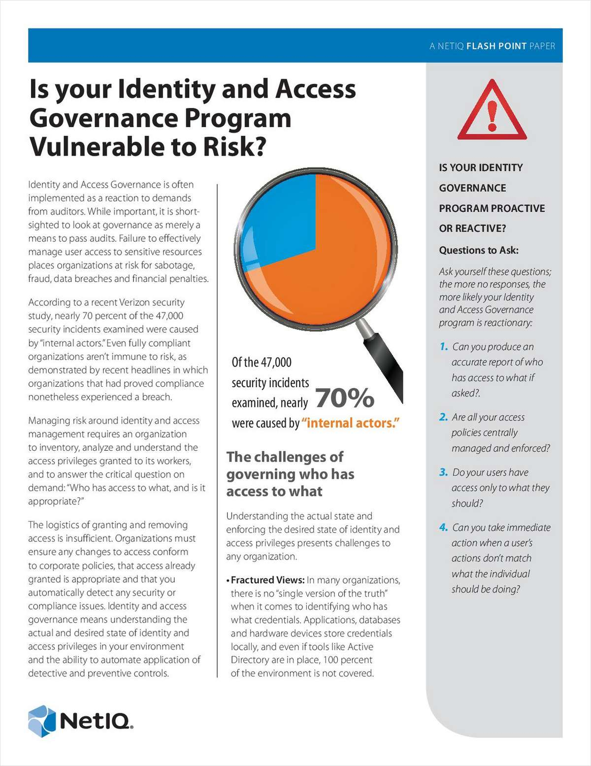 How to Know If Your Identity and Access Governance Program Is Vulnerable to Risk