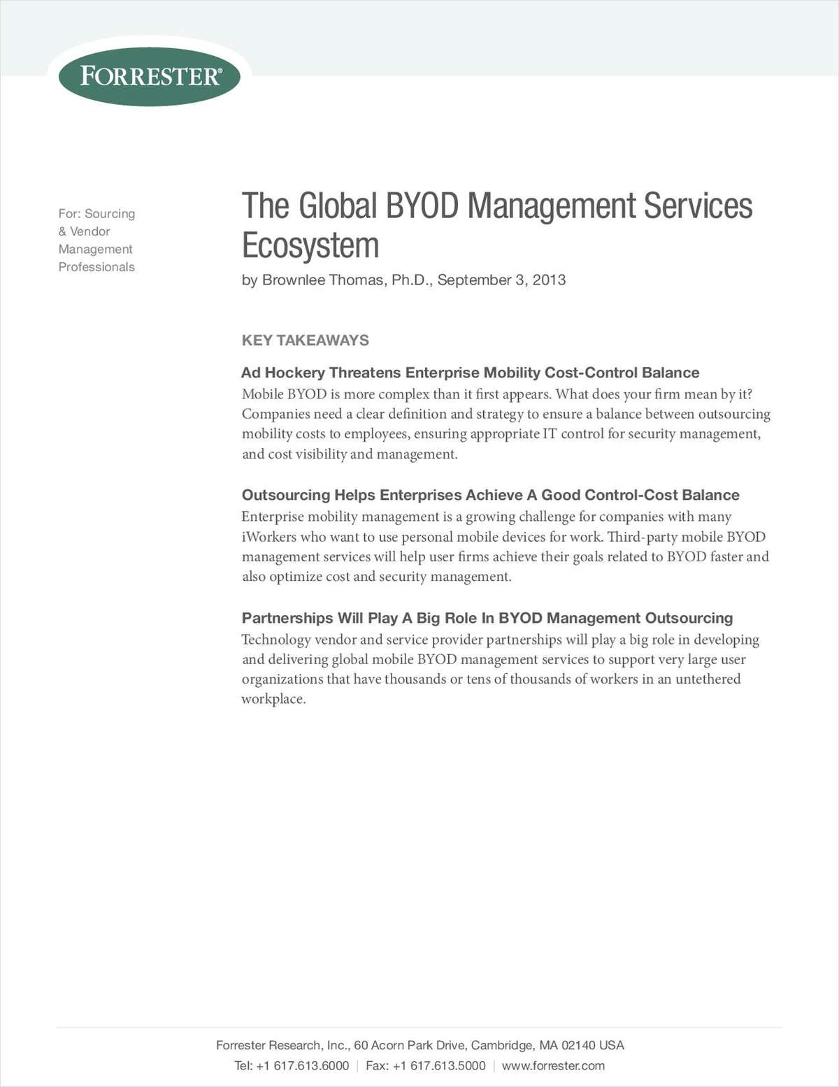 The Global BYOD Management Services Ecosystem