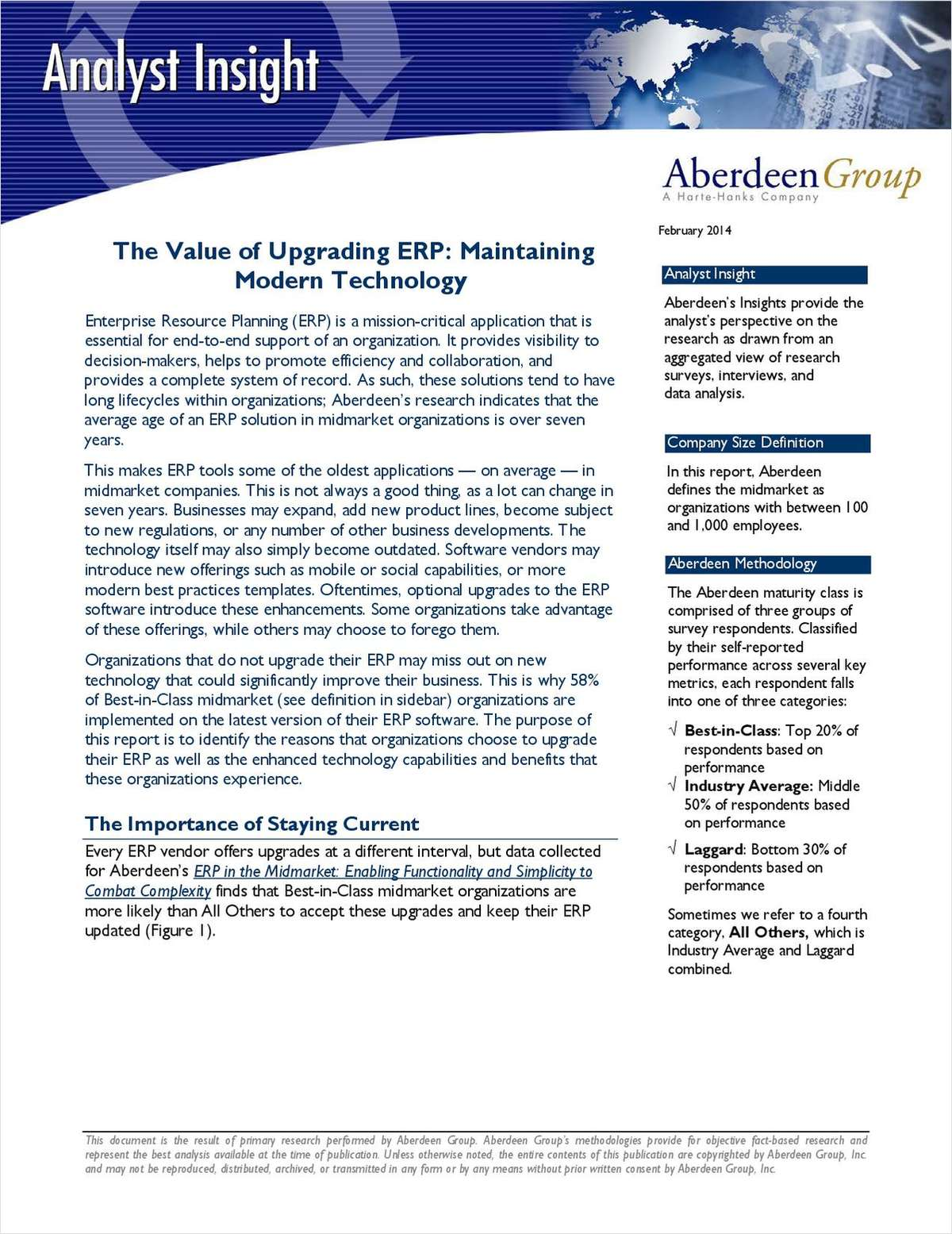 The Value of Updating ERP: Maintaining Modern Technology