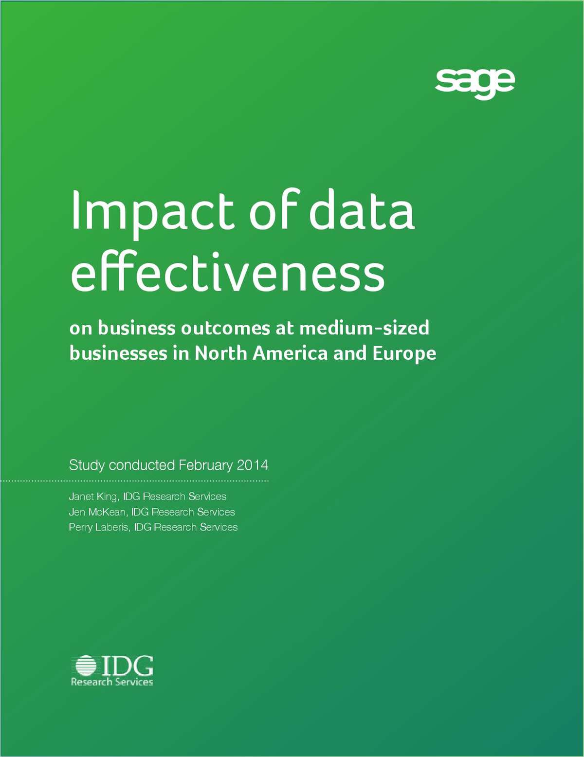 Impact of Data Effectiveness on Business Outcomes at Medium-Sized Businesses in North America and Europe
