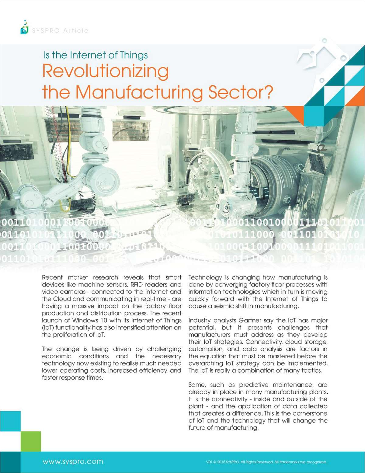 Is the Internet of Things Revolutionizing the Manufacturing Sector?