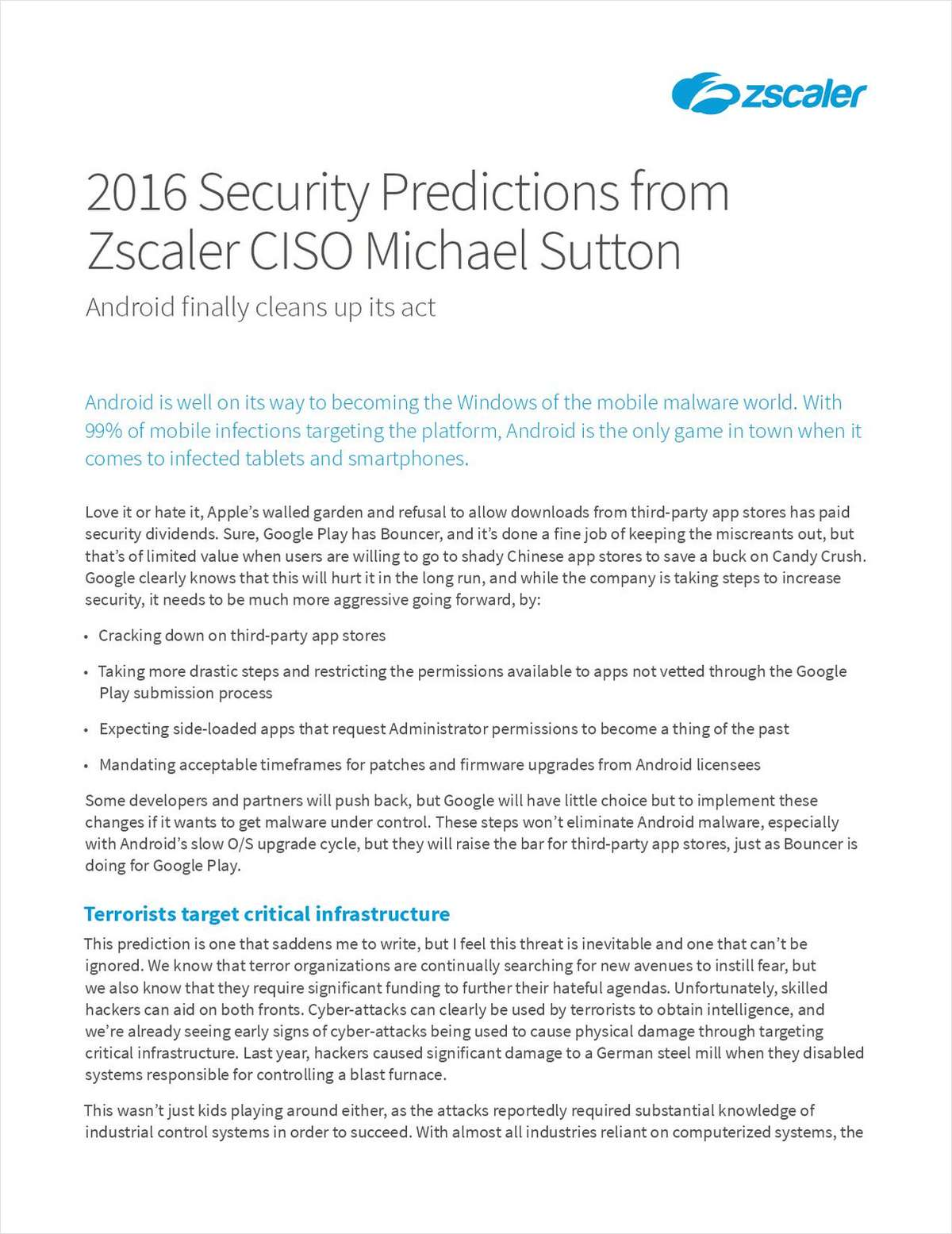Top Security Predictions for 2016