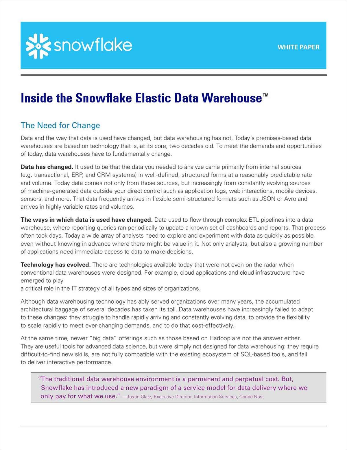 Inside the Snowflake Elastic Data Warehouse™
