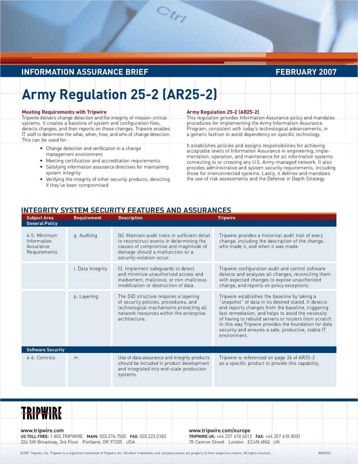 Department of Defense Information Assurance Briefs