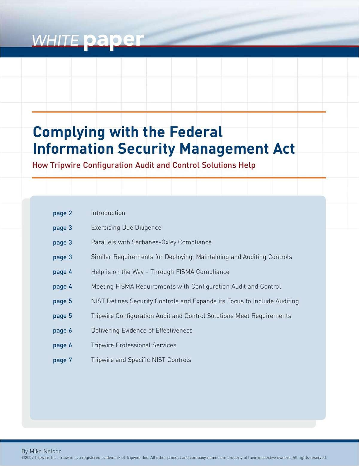 Complying with FISMA