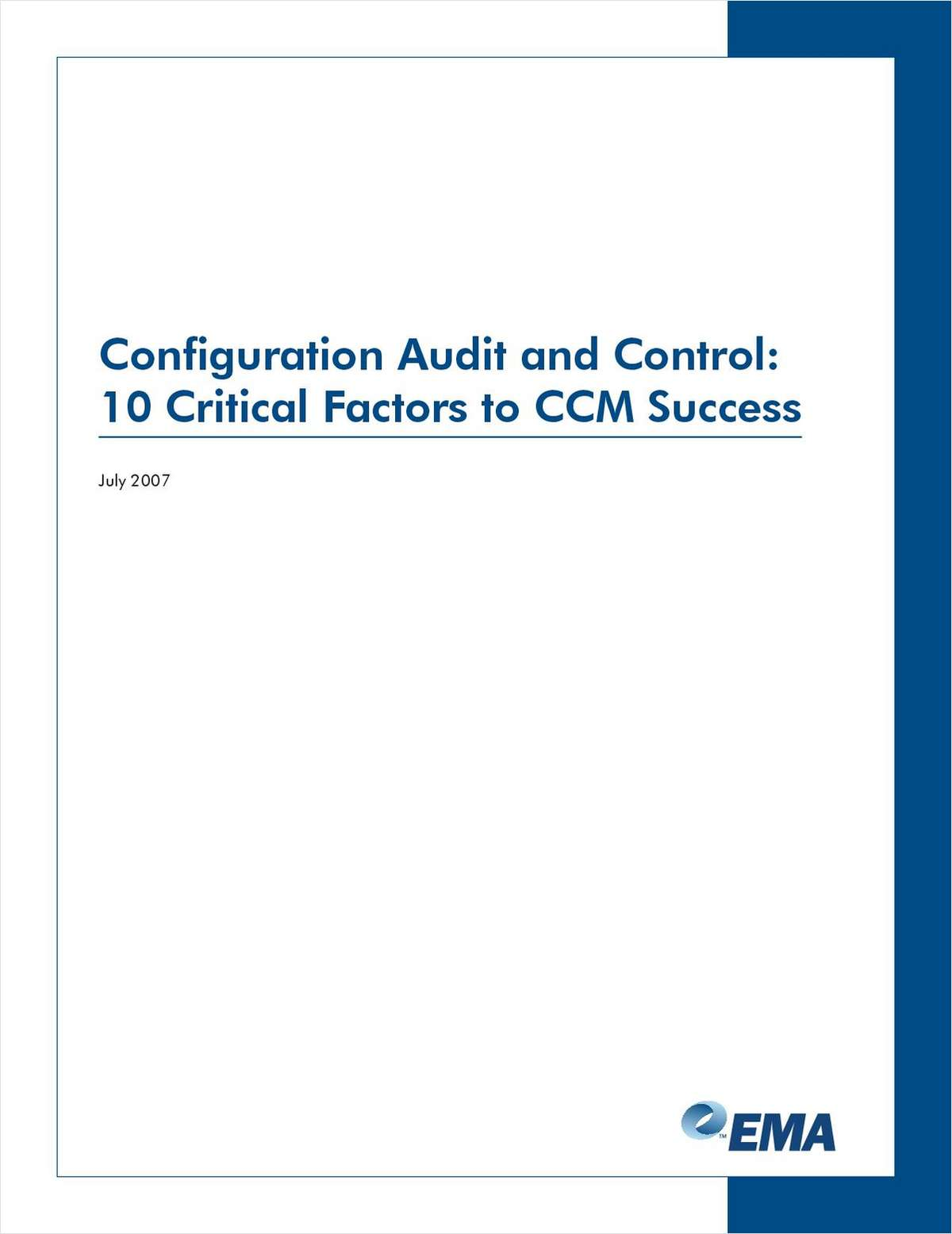 Configuration Audit and Control: 10 Critical Factors for CCM Success