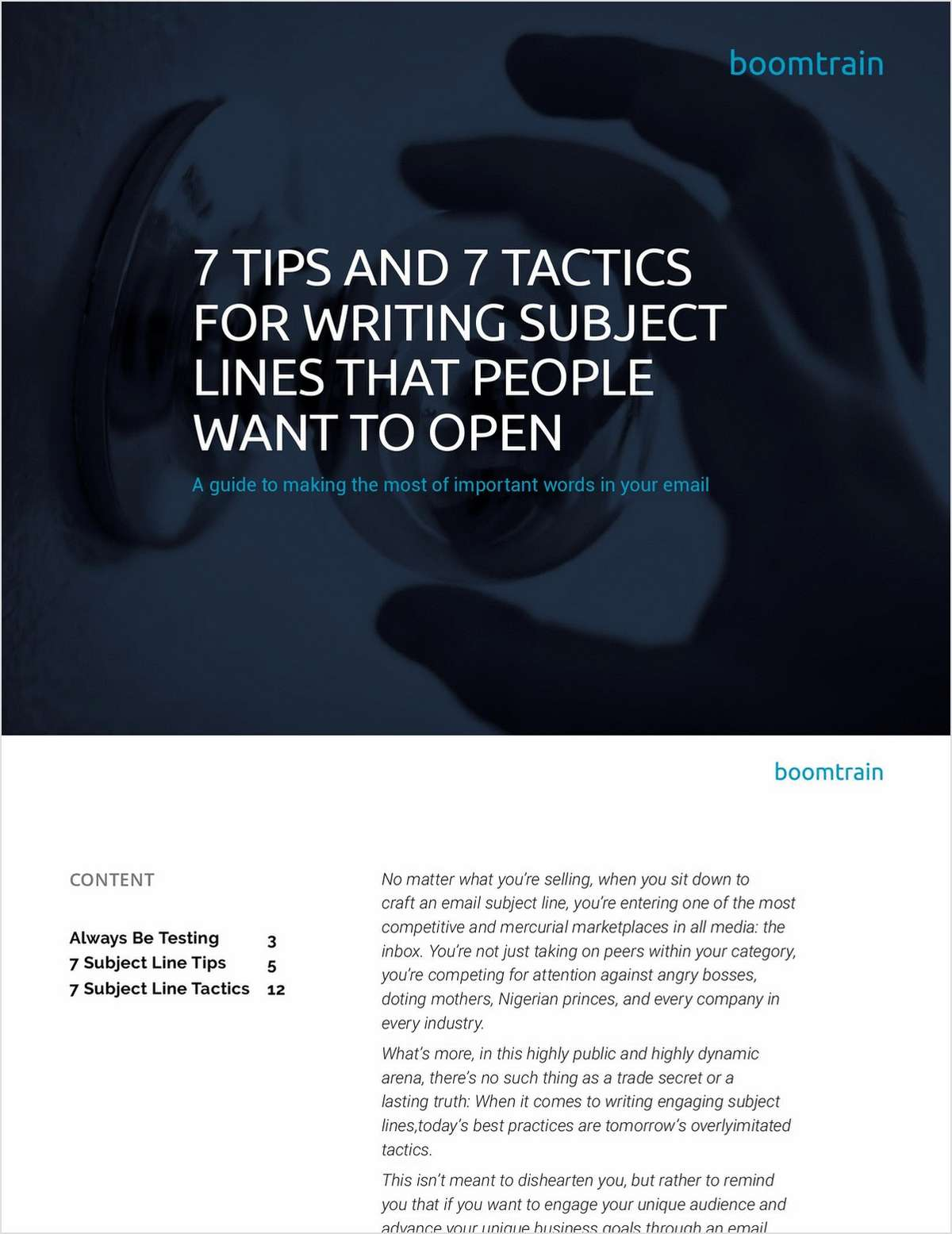 7 Tips and 7 Tactics for Writing Email Subject Lines that People Want to Open
