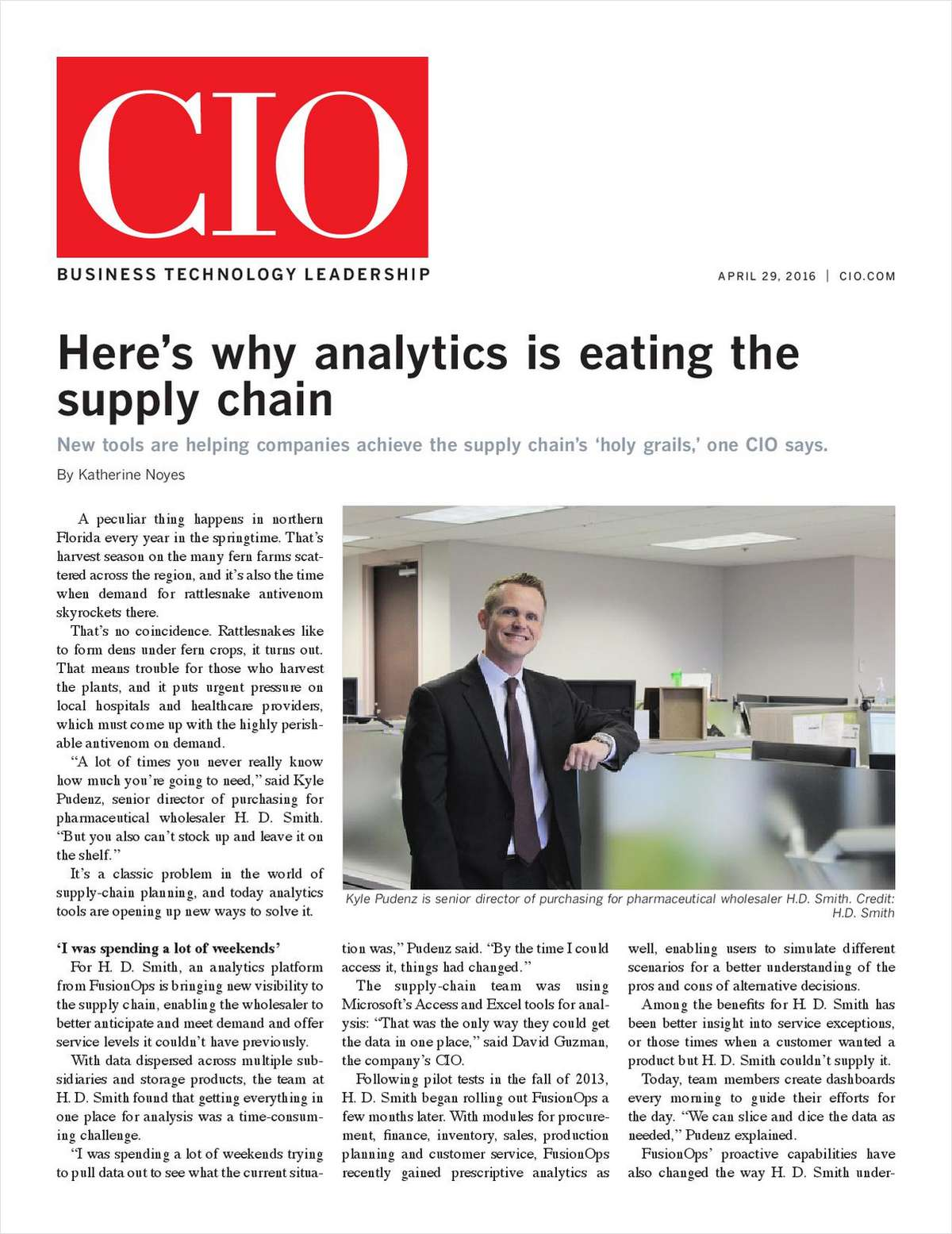 CIO: Here's Why Analytics is Eating the Supply Chain