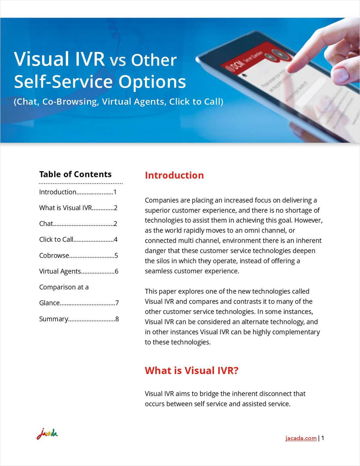 Visual IVR vs Other Self Service Options (Chat, Click to Call, Co-browse, Virtual Agents)