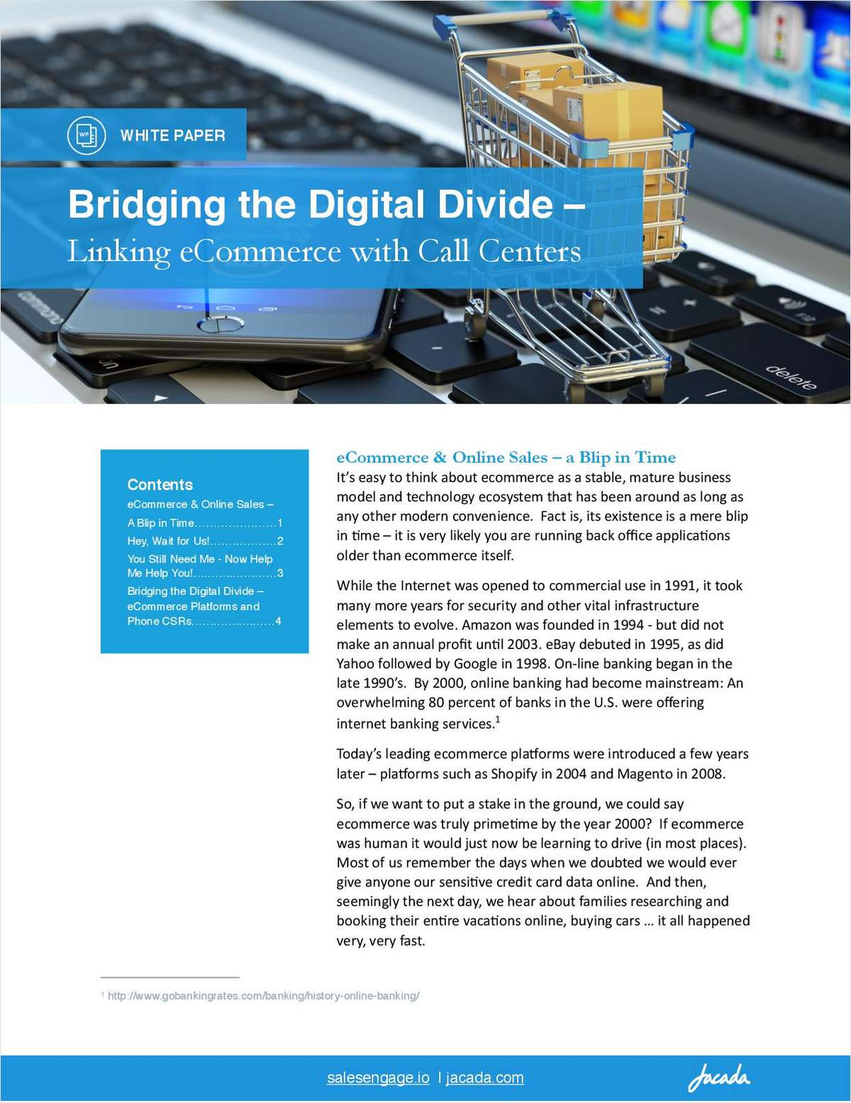 Bridging the Digital Divide - Linking eCommerce with Call Centers
